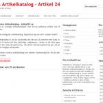 Artikelkatalog artikel24.se