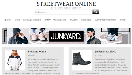 Streetwear online